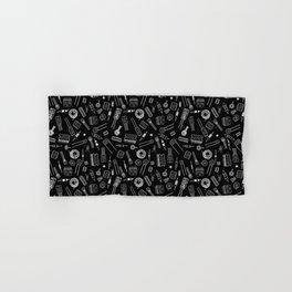 Circuit Components - White on Black Hand & Bath Towel