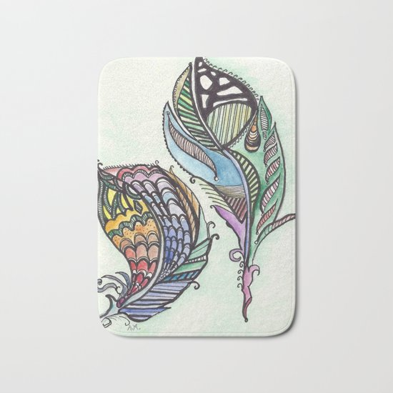 Two Feathers Bath Mat