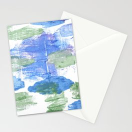 Green blue abstract Stationery Cards