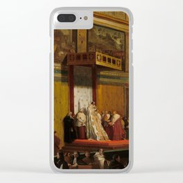Pope Pius VII in the Sistine Chapel Oil Painting by Jean-Auguste-Dominique Ingres Clear iPhone Case