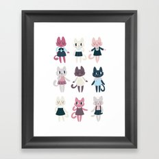 Adorable Fashion Kittens Framed Art Print