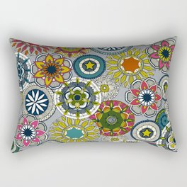mandala cirque festival silver Rectangular Pillow