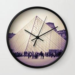 The Purple Pyramid Wall Clock