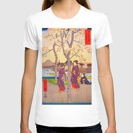 Utagawa Hiroshige - 36 Views of Mt.Fuji - Sumidazutsumi in the Eastern Capital - Digital Remastered Edition T-shirt