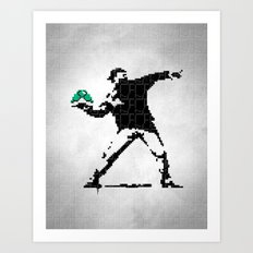 BanksyBit Art Print