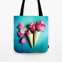 yetiland Tote Bags featuring Double Date by Olivia Joy StClaire