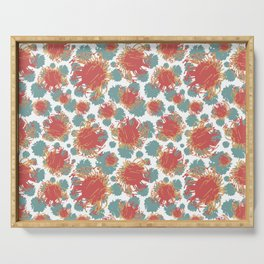 Pincushion Floral Print - Beautiful Australian Native Flowers Serving Tray
