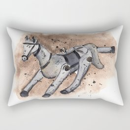 Christmas decor - horse Rectangular Pillow