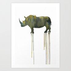 rhinoceros_002 Art Print