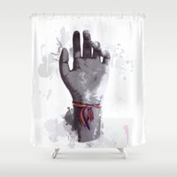 tool Shower Curtains featuring An Artist's Tool by Isaak_Rodriguez
