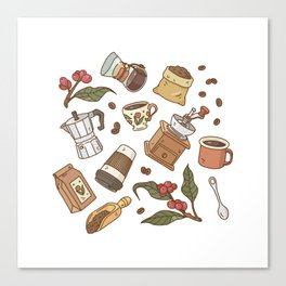 Coffee Break Pattern  Canvas Print