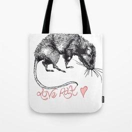 love rat Tote Bag