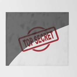 Top Secret Half Covered Ink Stamp Throw Blanket