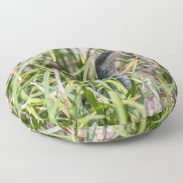 Black Garden Snake  Floor Pillow