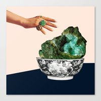 geode Canvas Prints featuring GEODE by Beth Hoeckel