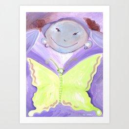 Judy's Flutterby Art Print