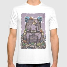 THE GHOST WHO SNACKS Mens Fitted Tee White MEDIUM