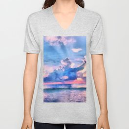 Sea sunset Unisex V-Neck