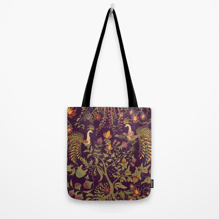 Birds of Paradise. Colorful illustration. Tote Bag