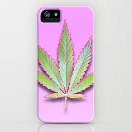 Leaf on Pink iPhone Case