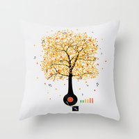 Sounds of Nature Throw Pillow