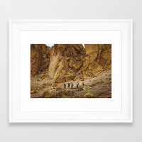 hiking Framed Art Prints featuring Hiking by AngelaRiggs