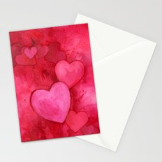 Valentine's Hearts Stationery Cards