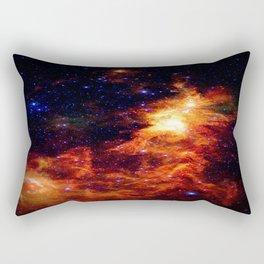 Fiery gAlAXy Indigo Stars Rectangular Pillow