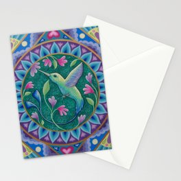 Hummingbird Mandala Stationery Cards