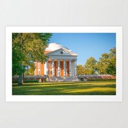 Charlottesville Virginia Campus Lawn Print Art Print