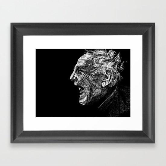 Homeless man4 Framed Art Print