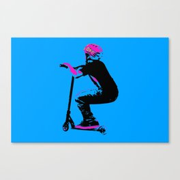 Scooter Cruiser - Scooter Boy Canvas Print
