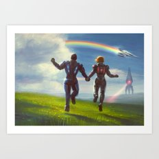 Mass Effect Ending Art Print