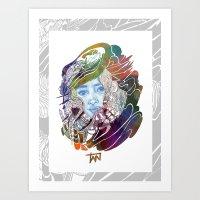 karen Art Prints featuring Karen  by N_du_Time