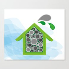 Solitary Bee Hotel Canvas Print