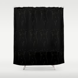 art of body Shower Curtain