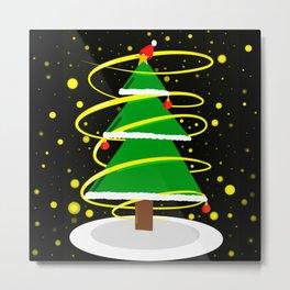 Beautiful Christmas tree Metal Print