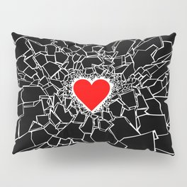 Heartbreaker III Black Pillow Sham