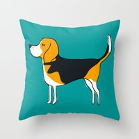 beagle Throw Pillows featuring Beagle by MaJoBV