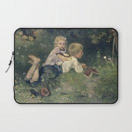 The Butterflies - August Allebé (1871) Laptop Sleeve