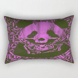Purple Gangsta Panda Rectangular Pillow