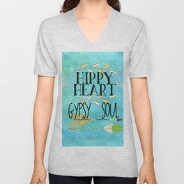 Hippy Heart Gypsy Soul Unisex V-Neck