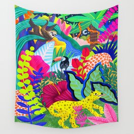 Jungle Party Animals Wall Tapestry