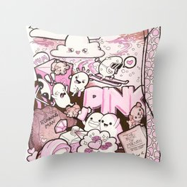 Custom Kawaii Doodle For My Sister Throw Pillow