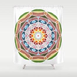 Holi festival colors Shower Curtain