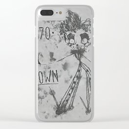 1970 | CLOWN | BW Clear iPhone Case