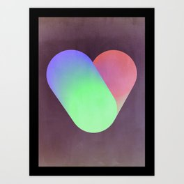Heart in color Art Print