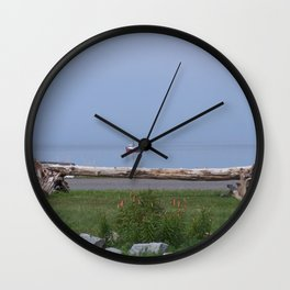 Coastal Paradise Scene Wall Clock