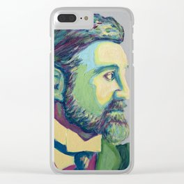 Coloured Roger by Machale O'Neill Clear iPhone Case