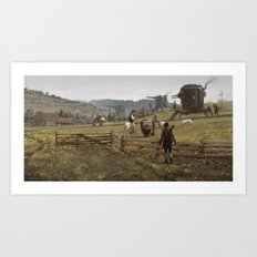 1920 - don't play with the strangers Art Print